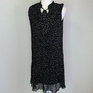 NWT DKNY black & white polka dot pleat dress 4